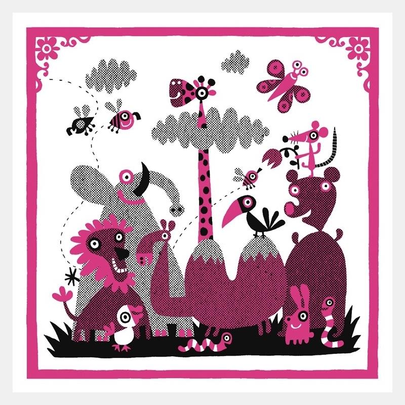 chamo - pink jungle