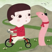 nathalie choux - promenade à vélo