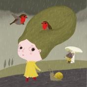 nathalie choux - sous la pluie